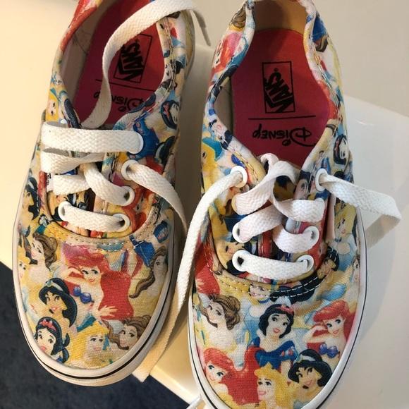 3d8f7c63f0 Rare Disney Princess Vans tennis shoes. M 5b0b5e6e2ab8c5cbcc72c192